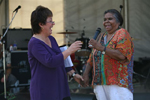 Julie McCrossin and Aunty Ali, Walk Against Want 2006