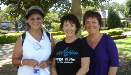 Denise Roberston, Angela Catterns and Julie McCrossin, Walk Against Want 2006
